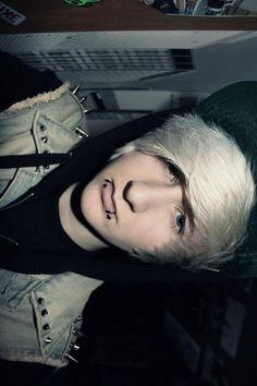 Boy with white Scene hair