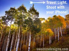Learn how to get great iphone pictures so you can travel light and skip the big bulky camera! @sweetcsdesigns.com