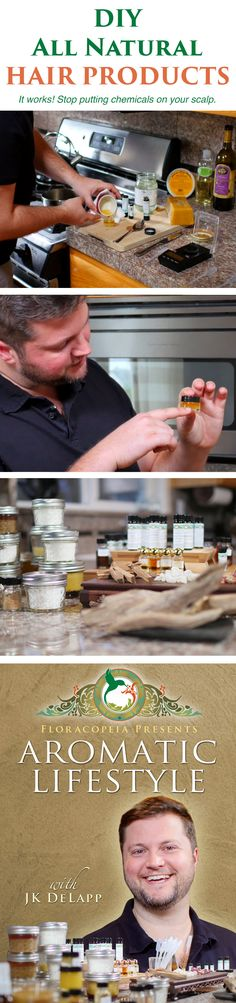 Learn how to create your own all #natural #essentialoil infused hair products in Video 3 of the Aromatic Lifestyle series with aromatic expert JK DeLapp: http://wisdom.floracopeia.com/aromatic-lifestyle-intro-pt/