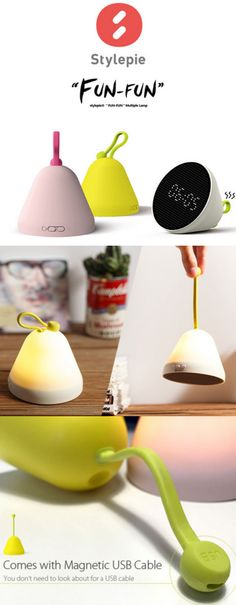 Multifunctional Night Light with display time, date, temperature and humidity function + magnetic USB cable
