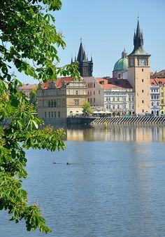 Prague : View from Střelecký island