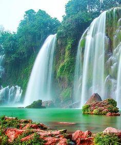 Astonishing Falls in Hanoi of Vietnam