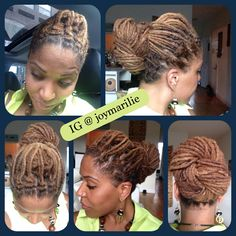 Still brushing my hair, instead of twisting. Came up with this knot bun style yesterday.