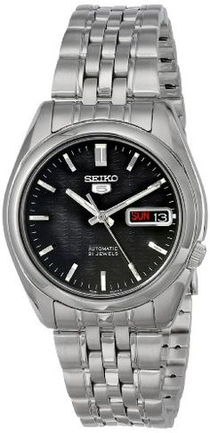 Seiko Mens SNK361 Automatic Stainless Steel Watch -- Want to know more, click on the image.
