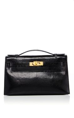 823b79a74899 Hermes Black Niloticus Lizard Kelly Pochette by HERITAGE AUCTIONS SPECIAL  COLLECTION for Preorder on Moda Operandi