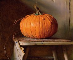 Nelson Shanks: Pumpkin — Bucks County Artists — James A. Painting Still Life, Still Life Art, Paintings I Love, Oil Paintings, Michener Art Museum, Hyperrealistic Art, Pumpkin Art, Pumpkin Painting, Still Life Images