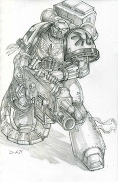 Blood Angel Heavy Bolter by DKuang on DeviantArt