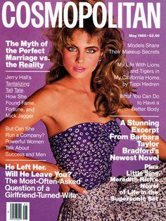 Cosmopolitan magazine, MAY 1985 Model: Kim Alexis Photographer: Francesco Scavullo