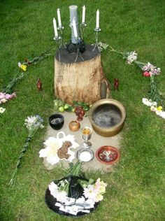 Altars can be set up a million different ways. There is no hard and fast rule. Just as each practitioner of Witchcraft is different, no two altars will be the same.