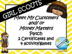 Girl Scout cookie activites - meet my customer / money ma