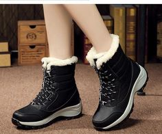Women Boots Winter Shoes Women Snow Boots Women Plus Size Hot Platform Boots Winter Female Warm Botas Mujer 2018 White Booties. Product ID: Ankle Snow Boots, Warm Boots, Snow Boots Women, Winter Snow Boots, Ankle Shoes, Lace Up Shoes, Black Boots, Ankle Booties, Lace Booties