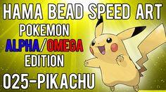 Hama Bead Speed Art | Pokemon | Alpha/Omega | Timelapse | 025 - Pikachu