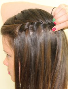 Get the Look: A Waterfall Braid