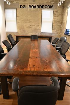 COACHUP Boston Custom Industrial Conference Table Photo By - Industrial conference room table