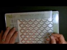 cardmaking video: Striped Scallop Thinlet with Deb Valder ... Stampin' Up!