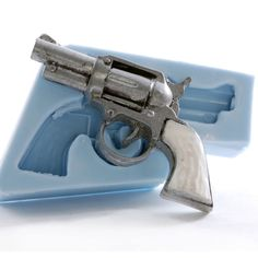 Pistol Mold  Wild west gun mold  Pistol soap mold by MoldMeShapeMe, $9.50