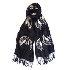 Want to wrap it around my head.  Scarab Scarf Black now featured on Fab.