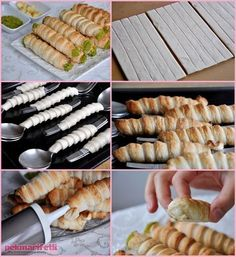 New Easy Cake : Ingredients (for 15 pieces) 3 sheets of puff pastry (double square) for milk jug; Baking Recipes, Dessert Recipes, Pastry Design, Good Food, Yummy Food, Tea Time Snacks, Bread And Pastries, Food Decoration, Turkish Recipes