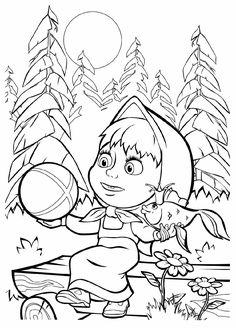 Tales - Coloring - Masha and the Bear