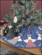 Holly & Angel Tree Skirt