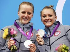 Abigail Johnston and Kelci Bryant (USA) Silver Medal Winners in 3 Meter Synchronized (Diving) Springboard Final 2012 Summer Olympics, Winter Olympics, Olympic Diving, Diving Springboard, Gold Medal Winners, Olympic Athletes, Power To The People, Team Usa, Tandem