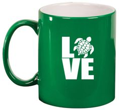 11oz Ceramic Coffee Tea Mug Glass Cup Love Sea Turtle