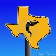 Texas Tornado Warning Sign