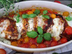 Pesto-mozzarellakanaa, nopea ja helppo / Tinskun keittiössä