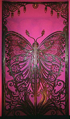 Art Nouveau Butterfly Door     by Maureclaire, via Flickr
