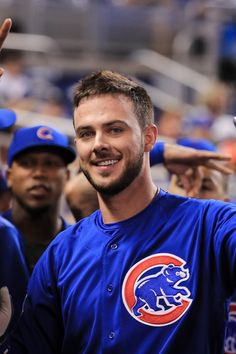 We loved seeing the Chicago Cubs wins the World Series, but do you know what we love even more? Staring at Kris Bryant. The baseball player is Hot Baseball Players, Baseball Guys, Baseball League, Cubs Baseball, Third Base, Short Beard, Fine Men, Sport Man, Chicago Cubs