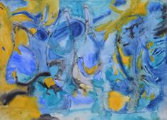 Watercolor Seascape Painting: Becker Beste Aquarelle, Expressionist art, Colorist painting, Blue painting, Berlin art, Home decor, Wall art