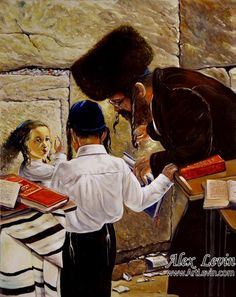 Leading by example....art by Alex Levin, Israeli painter