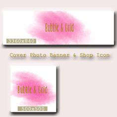 Watercolor Etsy Cover photo - Etsy Shop Icon - Watercolor Banner- Premade Etsy Banner Set - Etsy Cover Photo Design - Etsy New Cover Photo by lilpinkzebradesigns on Etsy