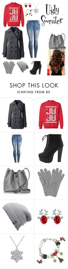 """""""Ugly Sweater Party!!!! :)"""" by amo-te-tam-multo ❤ liked on Polyvore featuring Lands' End, Lancaster, L.K.Bennett and The North Face"""