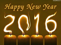 Happy New Year 2016 Candle Lights