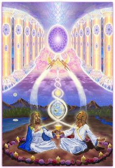 """""""Hieros Gamos"""" & Sacred Marriage: The New Relationship. """"Antahkarana"""" by Amoraea Dreamseed Tantra, Mary Magdalene And Jesus, Le Couple Parfait, Twin Flame Love, Twin Flames, Twin Souls, Psy Art, Ascended Masters, Spirited Art"""