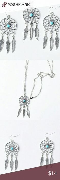 New Dreamcatcher Necklace And Earrings In original packaging Jewelry Necklaces
