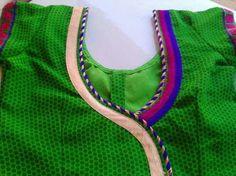 Salwar Neck Designs, Half Saree Designs, Blouse Designs Silk, Blouse Patterns, Blouse Neck, Saree Blouse, Blouse Models, Neck Pattern, Blouse Styles