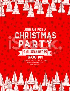 Free Christmas Invitation Templates Red Wood Christmas Party Invitation Templatethe Text Is Centered .