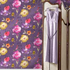 - All Products - GerryKeane. Plum Wallpaper, Purple Backgrounds, Flower Fashion, Purple Yellow, Watercolor Flowers, Flower Power, Blush Pink, All Things, Colours