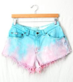 cotton candy ombre shorts