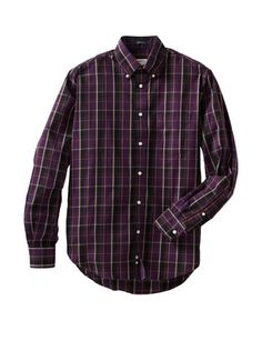 61% OFF Haspel Men\'s Button-Up Shirt (Burg Plaid)