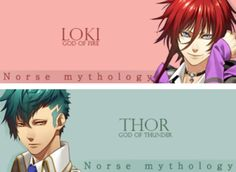Kamigami no Asobi...Loki is actually a mischief god..not of fire, but oh well