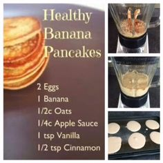 Honeybee Homemaker: Fix RECIPE: Banana Pancakes 3 Pankcakes yellow, red, purple (Chicken Breastrecipes 21 Day Fix) Ww Recipes, Baby Food Recipes, Cooking Recipes, Recipies, 21dayfix Recipes, Gluten Free Recipes For Kids, 21 Day Fix Breakfast, Breakfast Recipes, 21 Day Fix Waffles Recipes