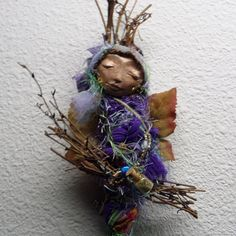Secret Garden Moon  Assemblage Spirit Art Doll by by awesomeart