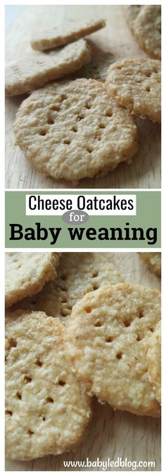 Delicious and simple BLW oatcake recipe. Perfect finger food for babies or a tasty snack for a toddler. 7+ months. For more weaning ideas visit babyledblog.com