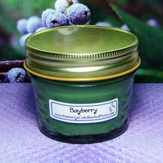 Bayberry PURE SOY Jelly Jar Candle (4 oz. jar) * For more information, visit now : Handmade Gifts