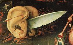 Bosch (Jérôme), le Jardin des délices  Jérôme Bosch, le Jardin des délices, 1480-1490. Triptyque. Huile sur panneau, 220 × 195 cm pour le panneau central et 97 × 195 cm pour les volets latéraux. Musée du Prado, Madrid.