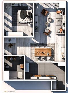 Small Apartment Plans, Studio Apartment Floor Plans, Small Apartment Design, Studio Apartment Decorating, Apartment Layout, House Floor Design, Sims House Design, Home Room Design, Small House Design