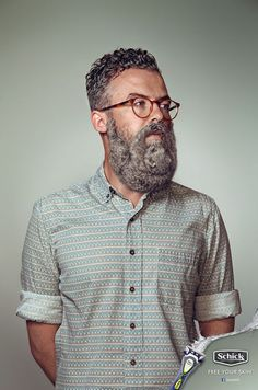 Hipster Men With Beards Shaped Like Animals, Have You Ever Seen Anything So Damn Trendy?